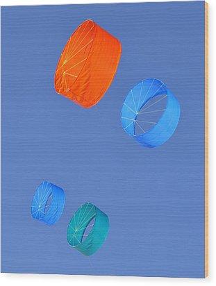 Colorful Kites Wood Print by David Lee Thompson