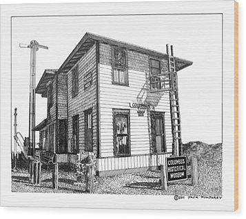 Columbus New Mexico  Wood Print by Jack Pumphrey