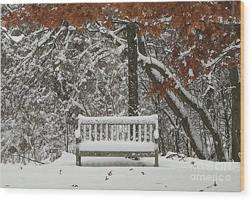 Come Sit Awhile Wood Print by Inspired Nature Photography Fine Art Photography