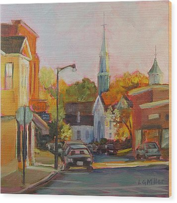 Concord Afternoon Wood Print by Laurie G Miller