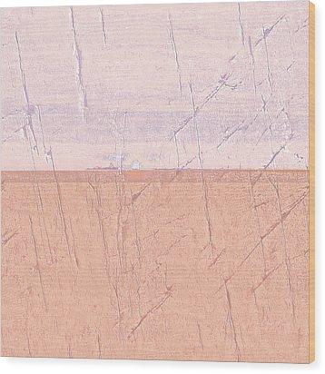 Concrete Seascape One Wood Print by Steve K