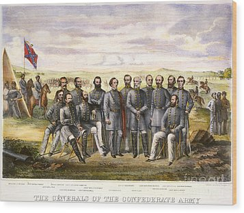 Confederate Generals Wood Print by Granger