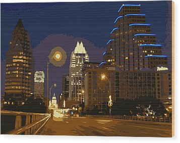 Congress Street Bridge Color 16 Wood Print by Scott Kelley