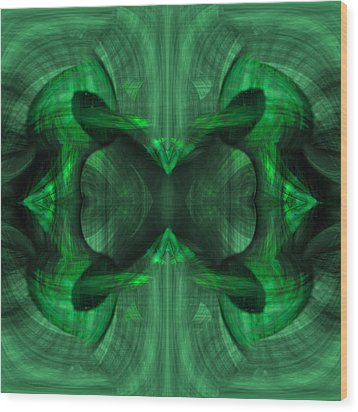 Conjoint - Emerald Wood Print by Christopher Gaston