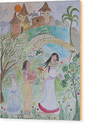 Contos De Fadas Wood Print by Sonali Gangane