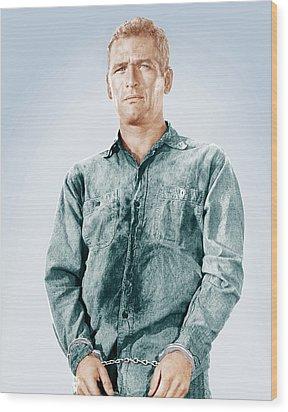 Cool Hand Luke, Paul Newman, 1967 Wood Print by Everett