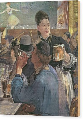 Corner Of A Cafe-concert Wood Print by Edouard Manet