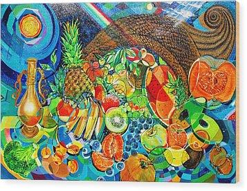 'cornucopia' Wood Print by Mario Villareal