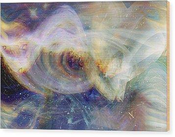 Cosmic Dust Wood Print by Linda Sannuti