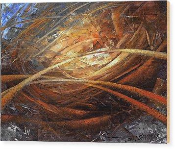 Cosmic Strings Wood Print by Arthur Braginsky