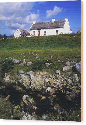 Cottage On Achill Island, County Mayo Wood Print by The Irish Image Collection