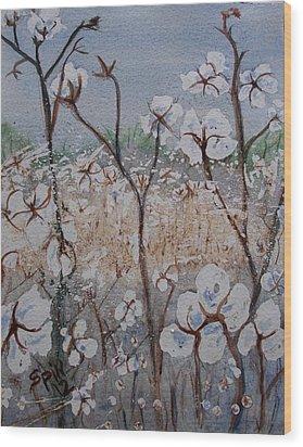 Cotton Patch Wood Print by Spencer  Joyner