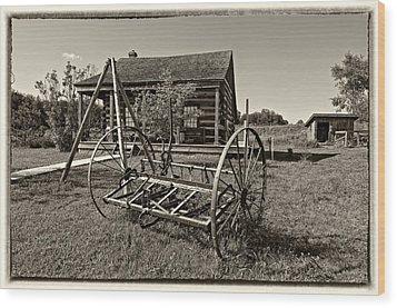 Country Classic Monochrome Wood Print by Steve Harrington