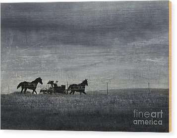 Country Wagon Wood Print by Perry Webster