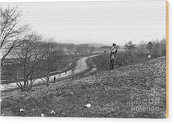Court Road 1896 Wood Print by Extrospection Art