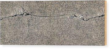 Cracks 1 Wood Print by The Art of Marsha Charlebois