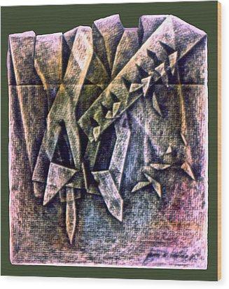 Crayolacomp B 1985 Wood Print by Glenn Bautista