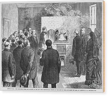 Cremation, 1876 Wood Print by Granger