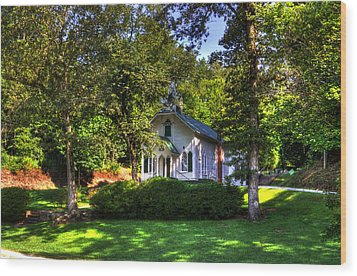 Crescent Hill Baptist Church Wood Print by Greg and Chrystal Mimbs