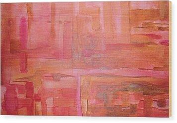 Crimson Sky Wood Print by Derya  Aktas