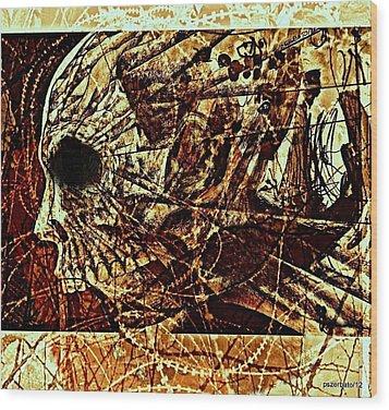 Crush The Infinity Of My Despair Wood Print by Paulo Zerbato