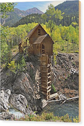 Crystal Mill 4 Wood Print by Marty Koch