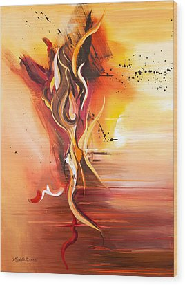 Dance Of Passion Wood Print by Michelle Wiarda