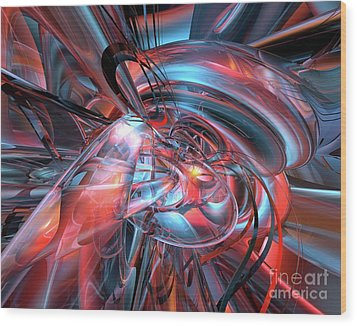 Dance Of The Glassmen Fx Wood Print by G Adam Orosco