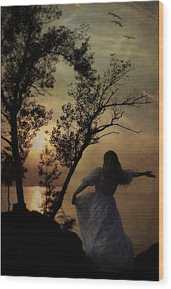 Dancing Girl Wood Print by Joana Kruse