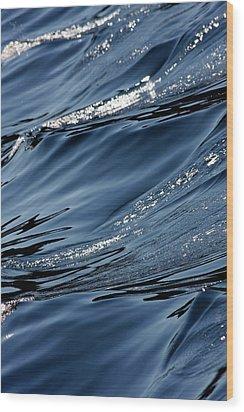 Dancing Waves Wood Print by Marie Jamieson