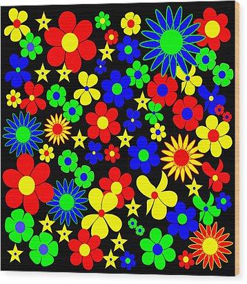 Danish Flowers Flora Danica Square Wood Print by Asbjorn Lonvig