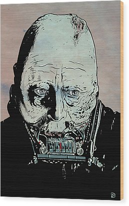 Darth Vader Anakin Skywalker Wood Print by Giuseppe Cristiano