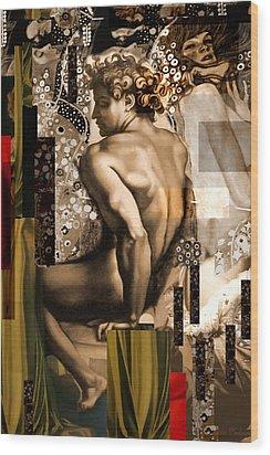 David Et Julie Wood Print by Karine Percheron-Daniels
