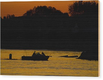 Day Of Fishing Is Over Wood Print by Karol Livote