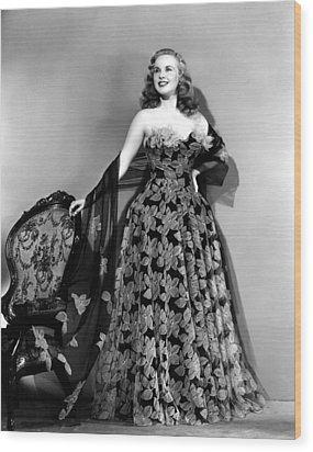 Deanna Durbin In Hoop Skirt Styled Lace Wood Print by Everett