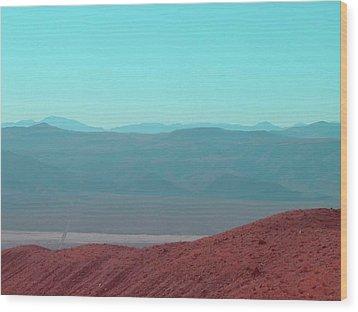 Death Valley View 2 Wood Print by Naxart Studio