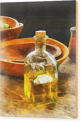 Decanter Of Oil Wood Print by Susan Savad