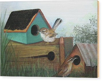 Decisions Decisions Wood Print by Lorraine McFarland