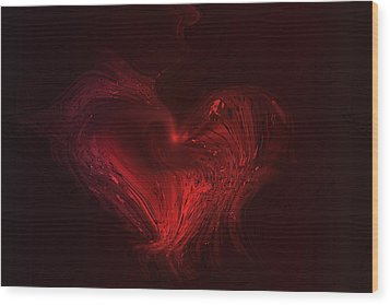 Deep Hearted Wood Print by Linda Sannuti