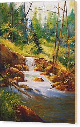 Deep Woods Beauty Wood Print by Robert Carver