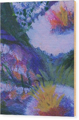 Delightful And Bright  Wood Print by Anne-Elizabeth Whiteway