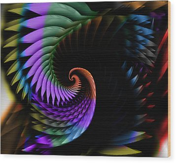 Descending Flight Wood Print by Anthony Caruso