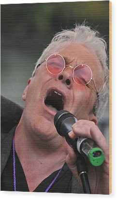 Dicey Riley Frontman Wood Print by Mike Martin