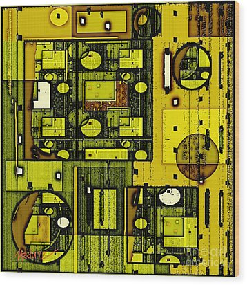 Digital Design 381 Wood Print by Nedunseralathan R