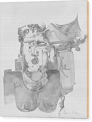 Distortion 3 Wood Print by Padamvir Singh