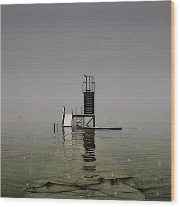 Diving Platform Wood Print by Joana Kruse