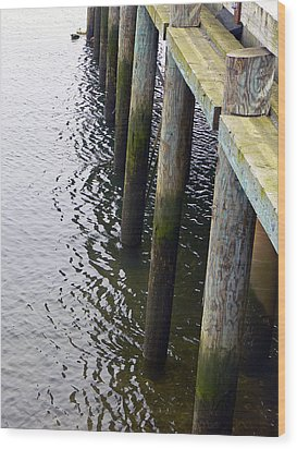 Dock Of The Bay  Wood Print by Pamela Patch