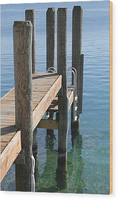 Docked Wood Print by Sheryl Burns
