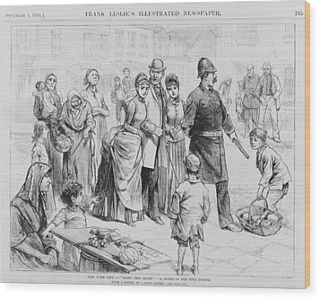 Doing The Slums. A Policeman Leading Wood Print by Everett