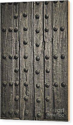 Door Detail Wood Print by Elena Elisseeva